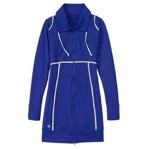 XL Athleta Spinnaker Sun Swim Cover Blue Jacket
